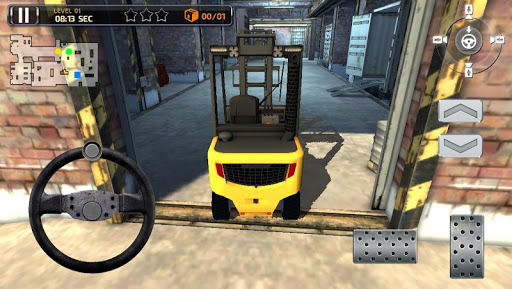 【免費賽車遊戲App】3D Forklift Parking Simulator-APP點子