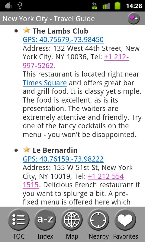 New York City - Travel Guide- screenshot