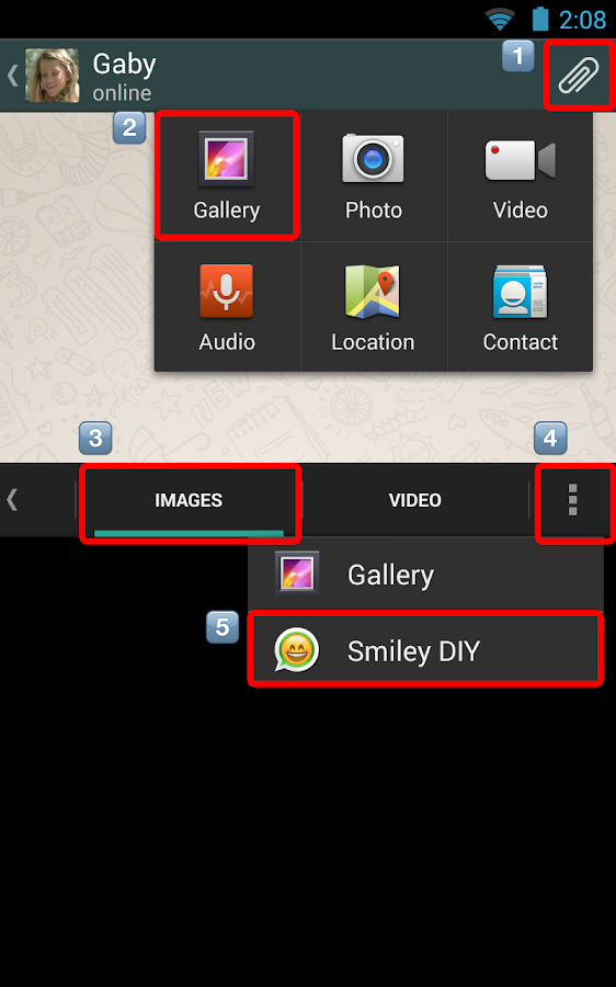 Smiley DIY for Chat - screenshot