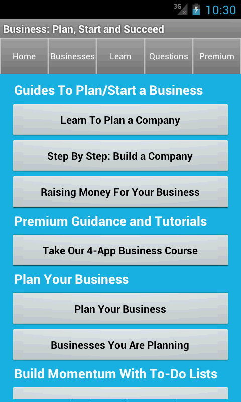 business plan amp start startup android apps on google play
