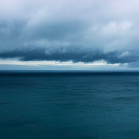 Storm by Steve Hird - Landscapes Waterscapes ( clouds, england, sky, dramatic, sea, weather, heavy, storm, english, rain, coast, cornwall )