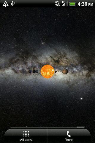 Solar System Live Wallpaper 3D