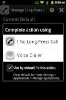 Screenshot of No Long-Press Call