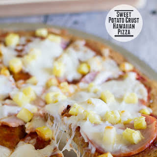 Sweet Potato Crust Hawaiian Pizza.