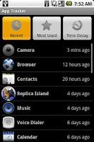 Screenshot of App Tracker