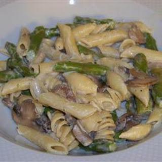 Portabello Mushroom and Asparagus Pasta