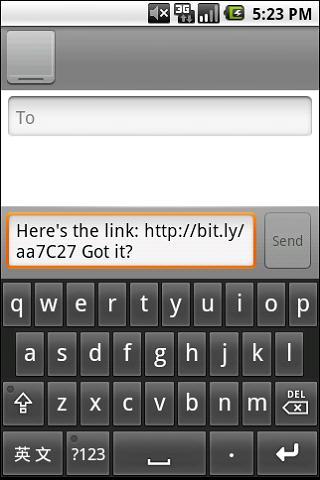 Shorten- screenshot