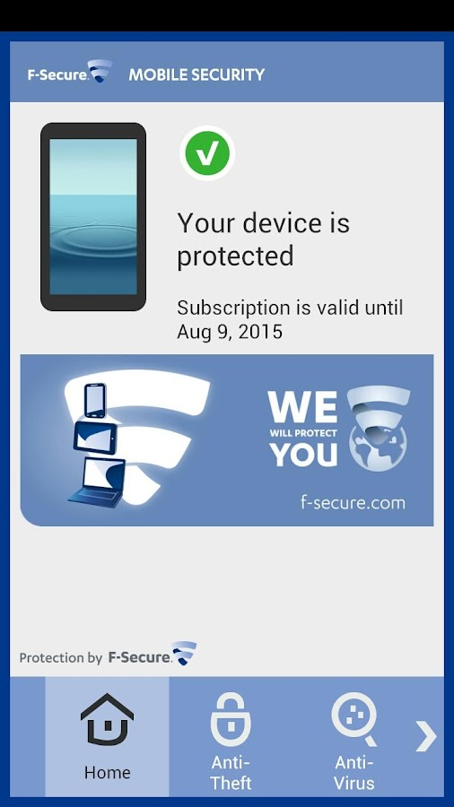 Android F-Secure Mobile Resimler