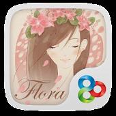 Flora GO Launcher Theme