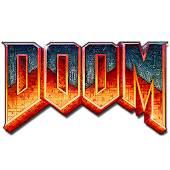 Doom logo Badge