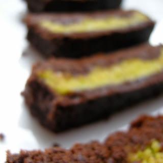Pistachio Marzipan Brownie Tart.