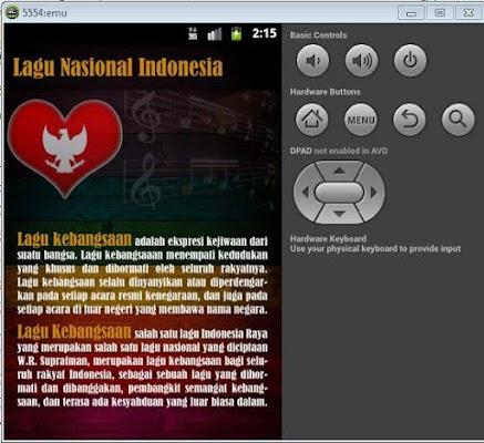 Lagu Nasional Indonesia - screenshot