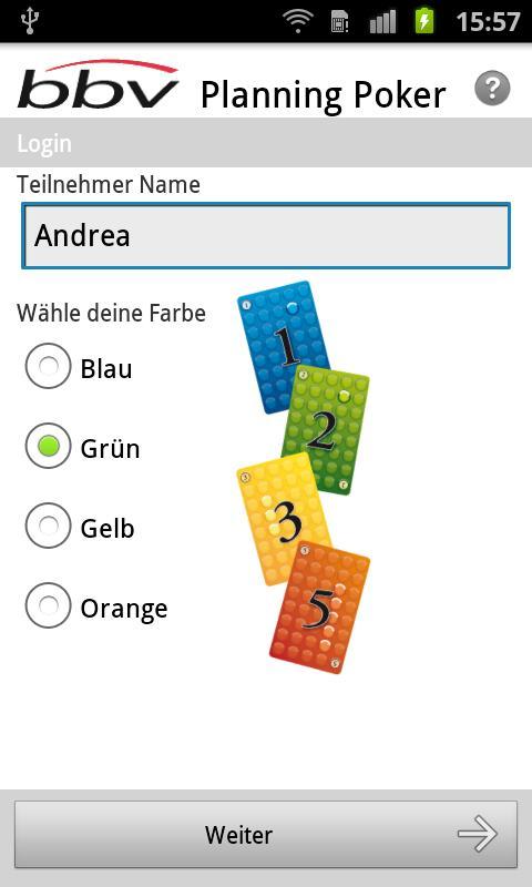 Planning Poker Team Edition - screenshot
