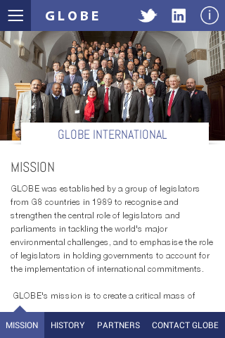 GLOBE International- screenshot