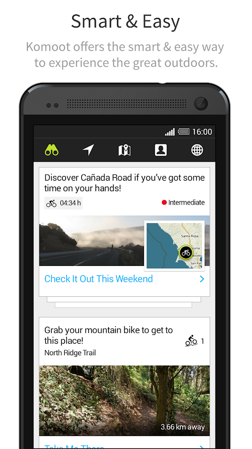 komoot — Hike & Bike GPS Maps - screenshot