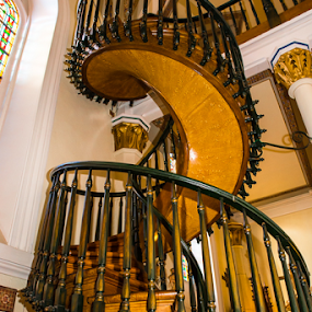 Holy Staircase, Loretto Chapel in Santa Fe, New Mexico by Photoxor AU - Buildings & Architecture Places of Worship ( holy staircase, staircase, santa fe, loretto chapel, new mexico,  )