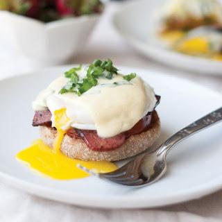 Classic Eggs Benedict with Lemon Basil Hollandaise