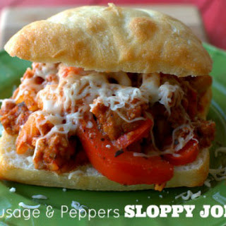 Sausage & Peppers Sloppy Joes