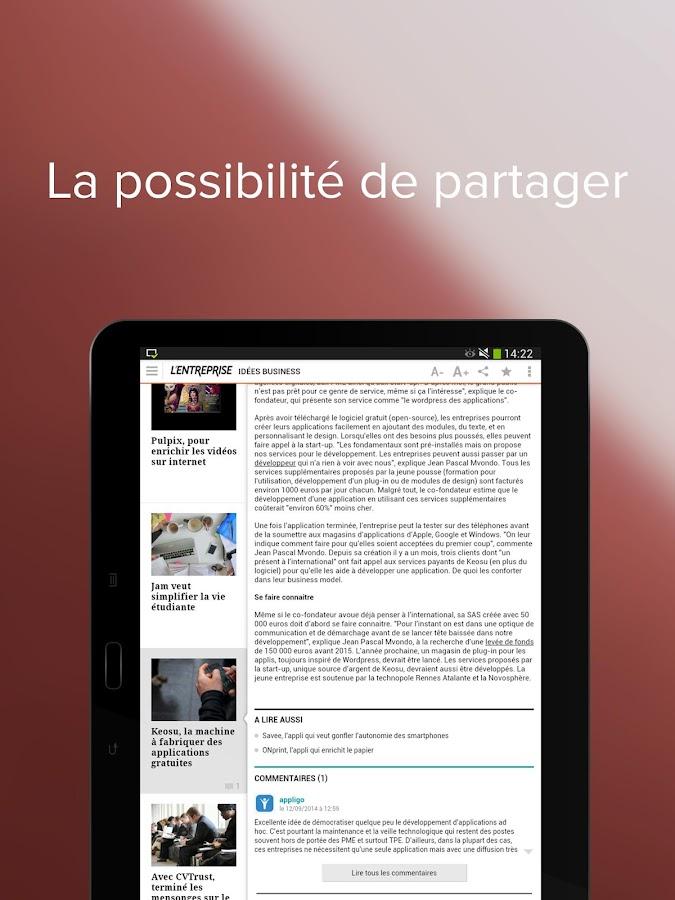 L'Entreprise: info des TPE/PME - screenshot
