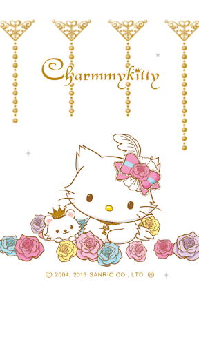 [チャーミーキティ]チャーミーホワイトゴールドライブ壁紙