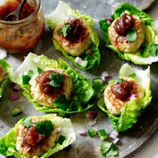 Moroccan Chicken Patties With Date Confit.