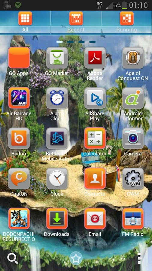 GO Launcher EX Theme tropical- screenshot