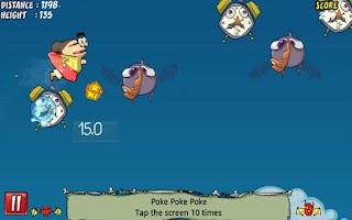 Screenshot of Granniac Flying Super Jump