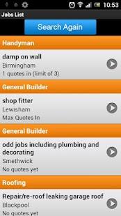 Jobs for Tradesmen- screenshot thumbnail