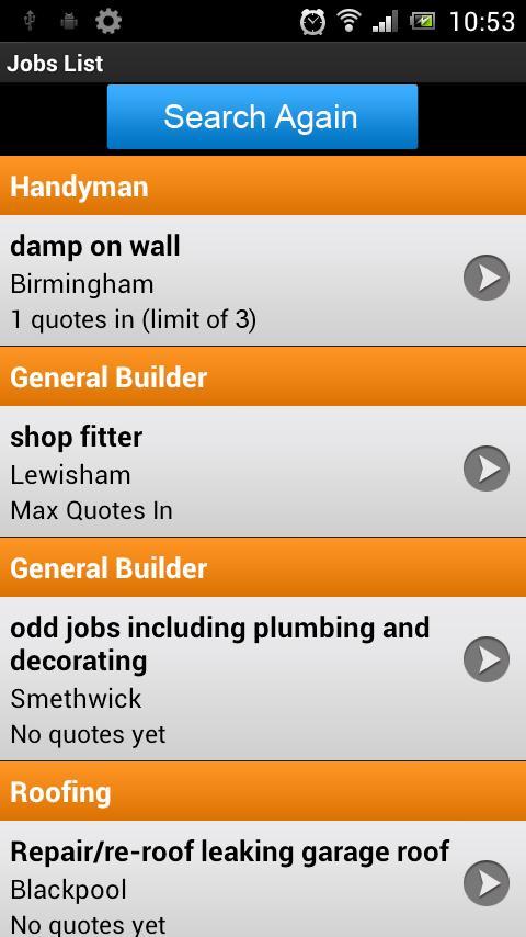 Jobs for Tradesmen- screenshot