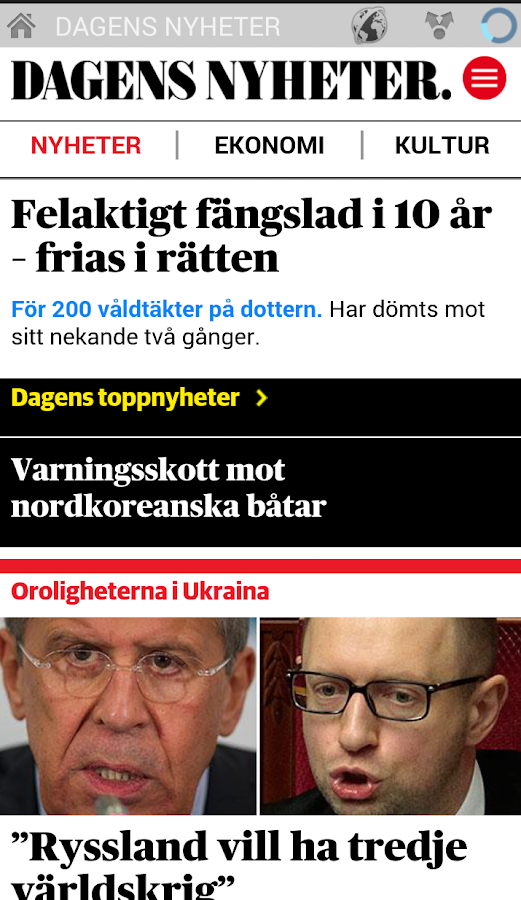 News and magazines Sweden- screenshot