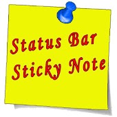 Status Bar Sticky Note