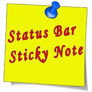 Status Bar Sticky Note 1.0