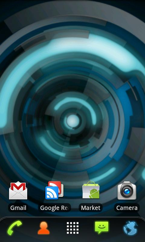 RLW Theme Black Blue Tech- screenshot