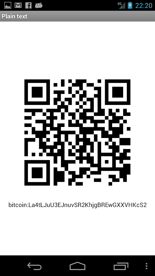 BitcoinAddresses- screenshot