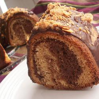 Chocolate Peanut Butter Marble Cake.