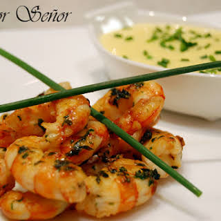 Jumbo Shrimp with Mango Mayonnaise.