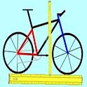 Medidas de bicicleta - mais icon