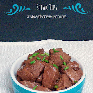 "Bourbon Butter Venison Steak ""Tips"""