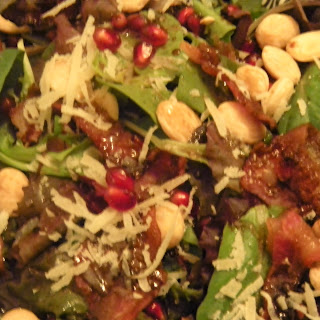 Mixed Greens with Maple Balsamic Vinaigrette with Marcona Almonds and Manchego.