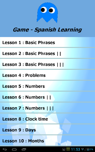 Game - Spanish Learning