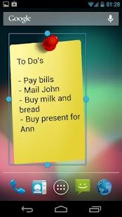 Notes Widget HD Free Stickies – miniatureskærmbillede