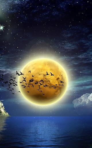 月光動態壁紙