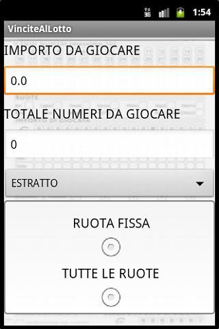 Il gioco del LOTTO - screenshot