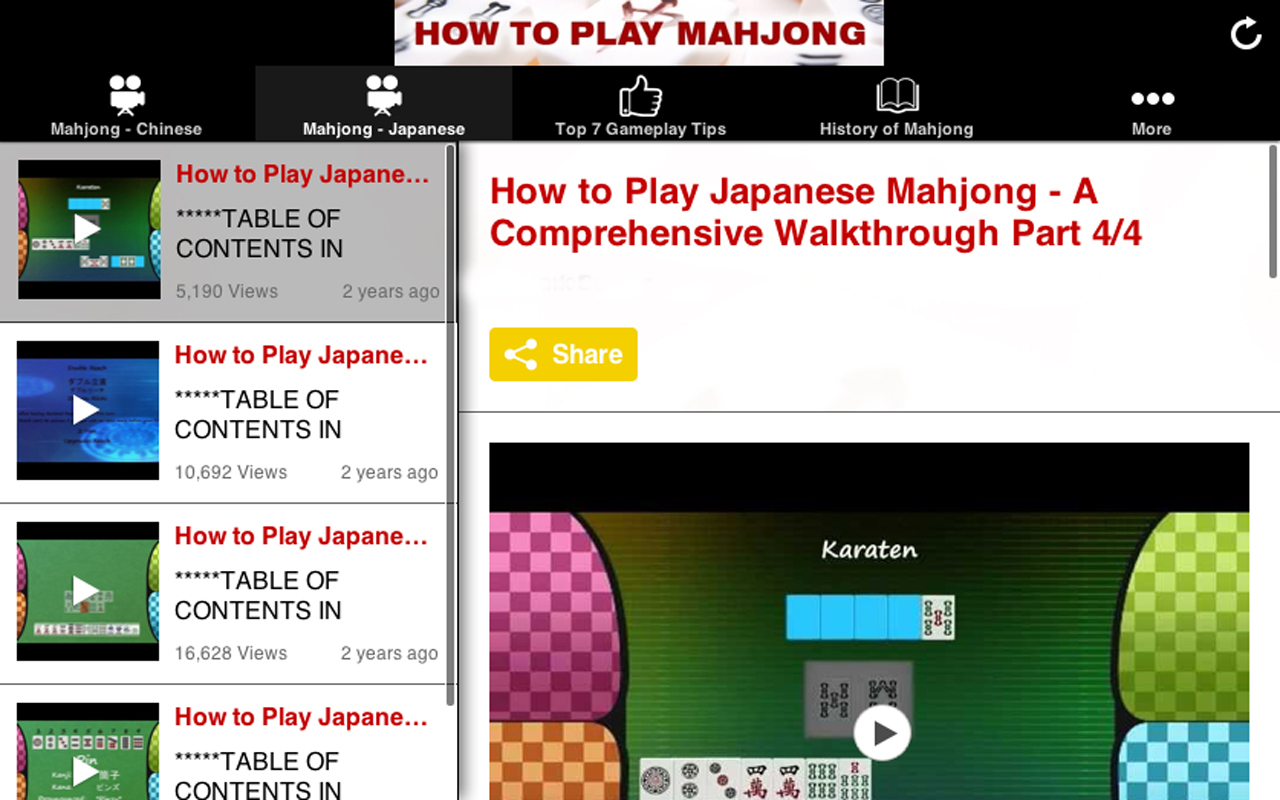 How to play mahjong android apps on google play