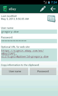 Secret Safe Password Manager - screenshot thumbnail