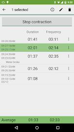 Contraction Timer Screenshot 2