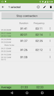 Contraction Timer Screenshot 2