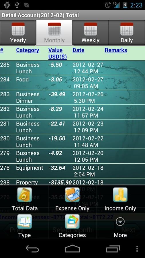Cashbook - Expense Tracker - screenshot