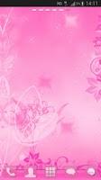 Screenshot of GO Launcher Pink Theme Flowers