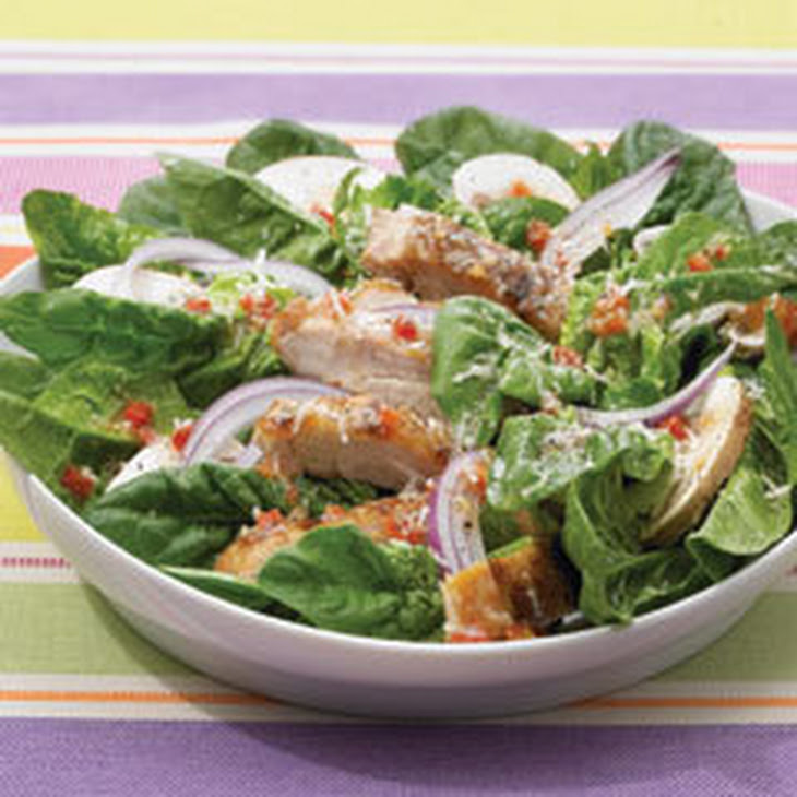 Spinach Salad with Grilled Chicken Thighs Recipe